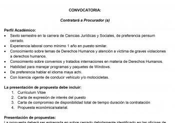 CONVOCATORIA PARA PUESTO DE PROCURADOR (A)