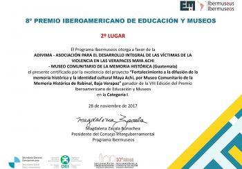 RECONOCIMIENTO AL TRABAJO DEL MUSEO COMUNITARIO DE LA MEMORIA HISTORICA