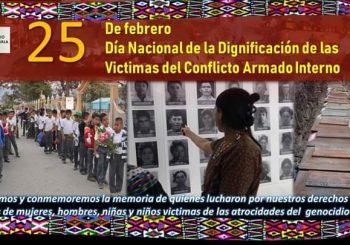 CONMEMORAN EL DIA NACIONAL DE LA DIGNIFICACION DE LAS VICTIMAS DEL CONFLICTO ARMADO INTERNO